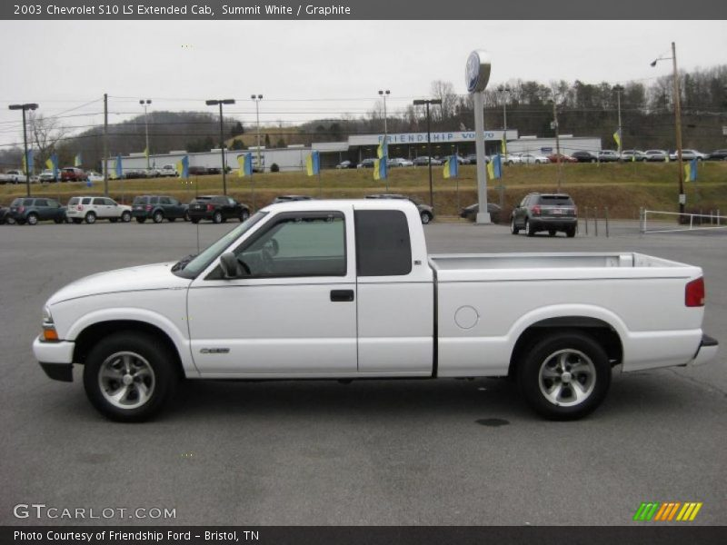 2003 chevrolet s10 ls extended cab in summit white photo no 44896662. Black Bedroom Furniture Sets. Home Design Ideas