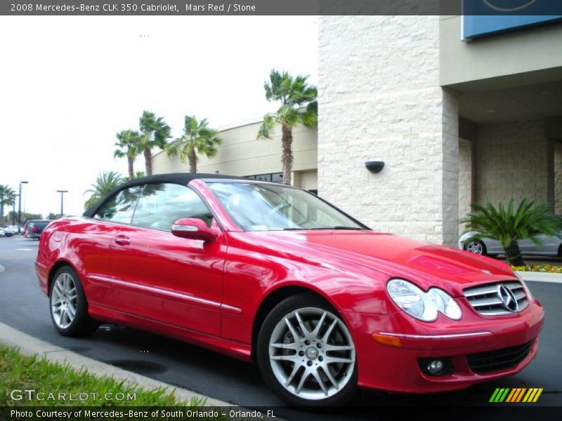 2008 mercedes benz clk 350 cabriolet in mars red photo no for G stone motors used cars