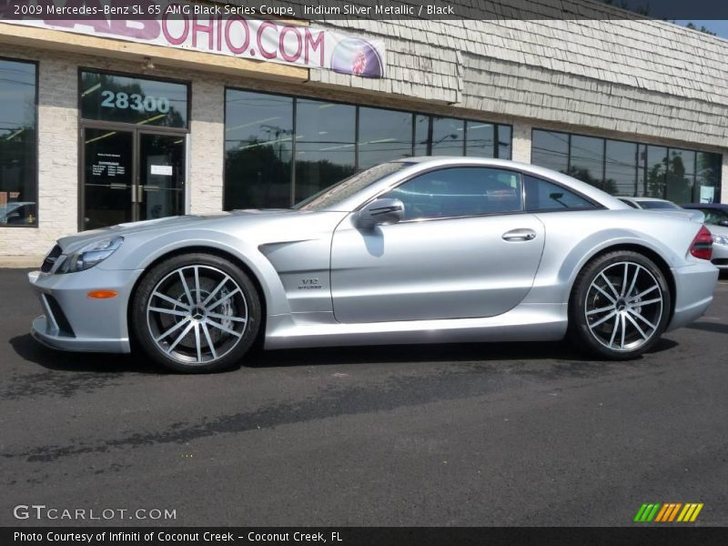 Iridium Silver Metallic / Black 2009 Mercedes-Benz SL 65 AMG Black Series Coupe
