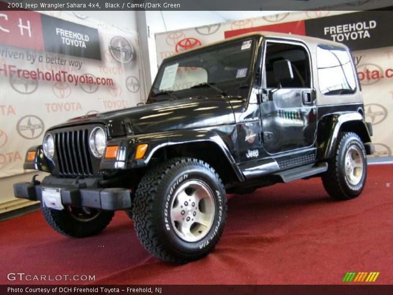2001 jeep wrangler sahara 4x4 in black photo no 45000790. Black Bedroom Furniture Sets. Home Design Ideas