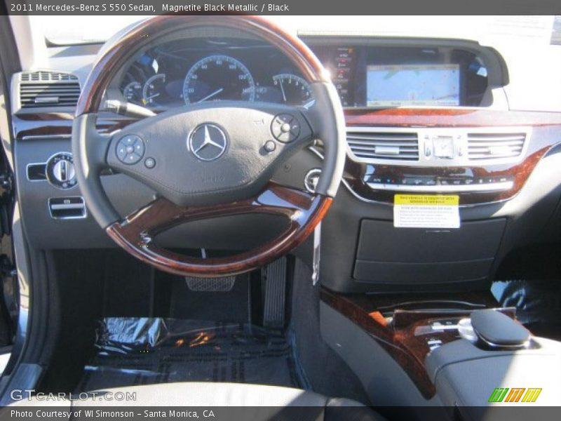 Magnetite Black Metallic / Black 2011 Mercedes-Benz S 550 Sedan