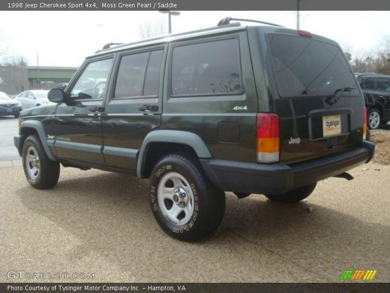 1998 jeep cherokee sport 4x4 in moss green pearl photo no 45154427. Cars Review. Best American Auto & Cars Review