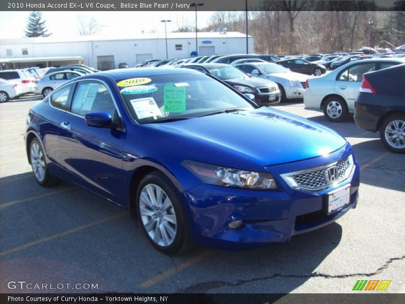 2010 honda accord ex l v6 coupe in belize blue pearl photo. Black Bedroom Furniture Sets. Home Design Ideas