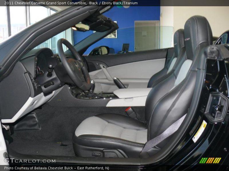 2011 Corvette Grand Sport Convertible Ebony Black Titanium Interior Photo No 45479890