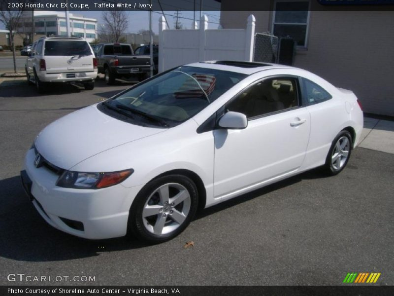 2006 honda civic ex coupe in taffeta white photo no. Black Bedroom Furniture Sets. Home Design Ideas