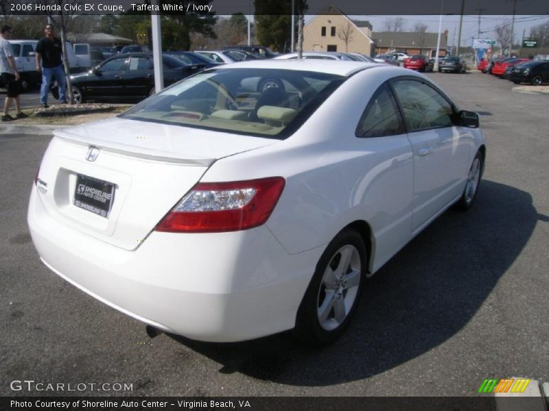 2006 honda civic ex coupe in taffeta white photo no 45527648. Black Bedroom Furniture Sets. Home Design Ideas
