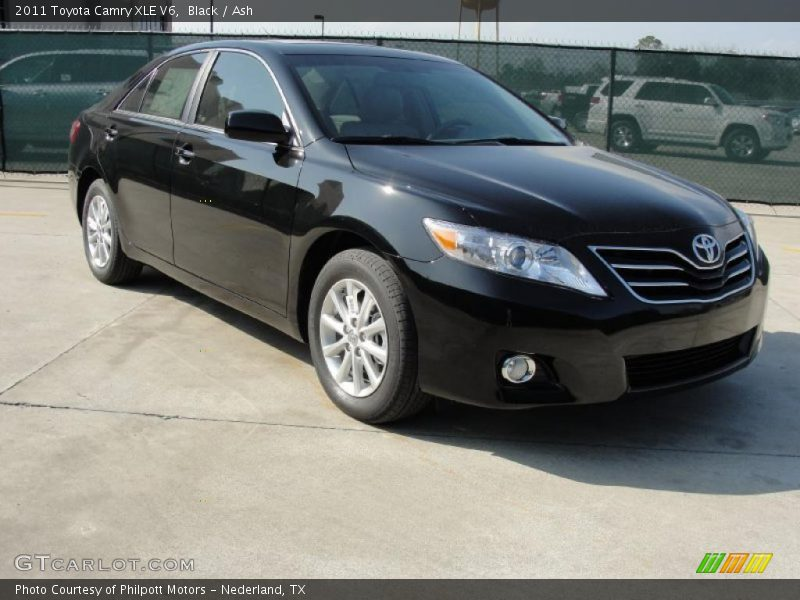 2011 toyota camry xle v6 in black photo no 45923794. Black Bedroom Furniture Sets. Home Design Ideas