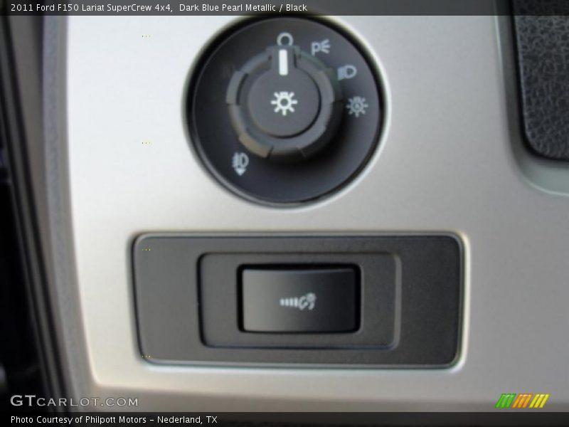 Dark Blue Pearl Metallic / Black 2011 Ford F150 Lariat SuperCrew 4x4