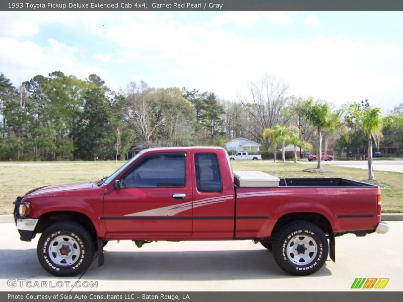 1993 toyota pickup deluxe extended cab 4x4 in garnet red pearl photo no 4626044. Black Bedroom Furniture Sets. Home Design Ideas