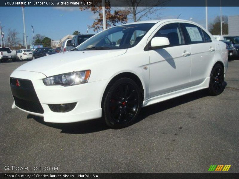 2008 mitsubishi lancer gts in wicked white photo no 46261510. Black Bedroom Furniture Sets. Home Design Ideas