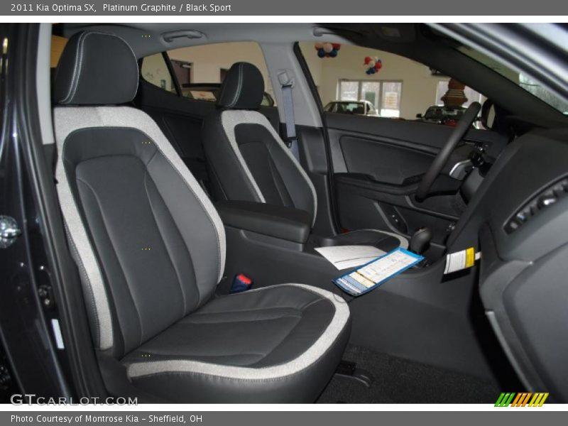 2011 Optima SX Black Sport Interior