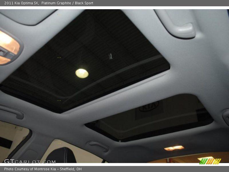 Platinum Graphite / Black Sport 2011 Kia Optima SX