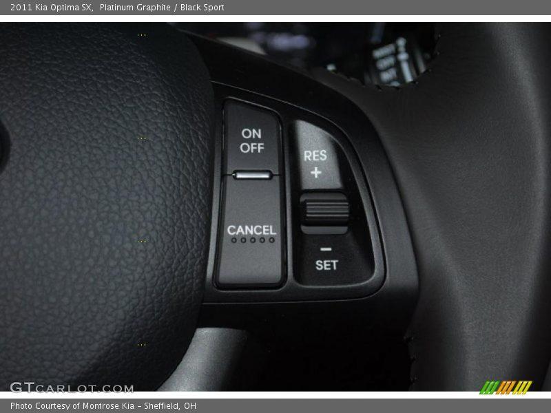 Controls of 2011 Optima SX
