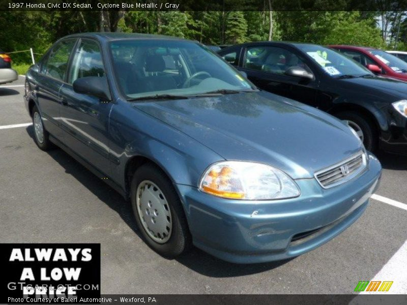 1997 honda civic dx sedan in cyclone blue metallic photo no 46512759. Black Bedroom Furniture Sets. Home Design Ideas