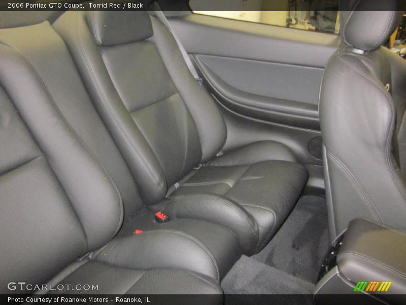 Torrid Red / Black 2006 Pontiac GTO Coupe