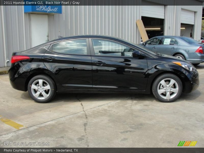 2011 Hyundai Elantra Gls In Black Noir Pearl Photo No