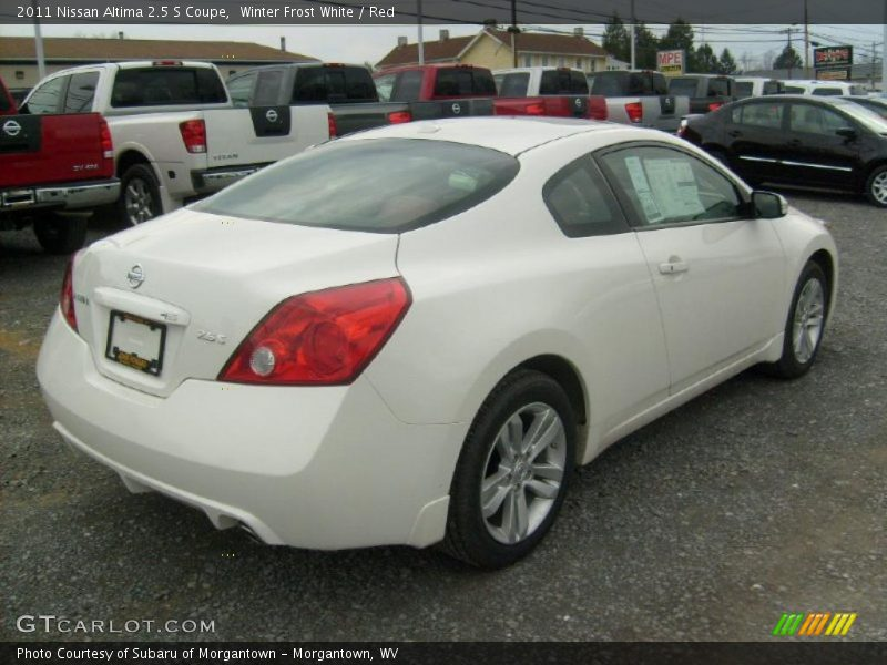 2011 nissan altima 2 5 s coupe in winter frost white photo. Black Bedroom Furniture Sets. Home Design Ideas