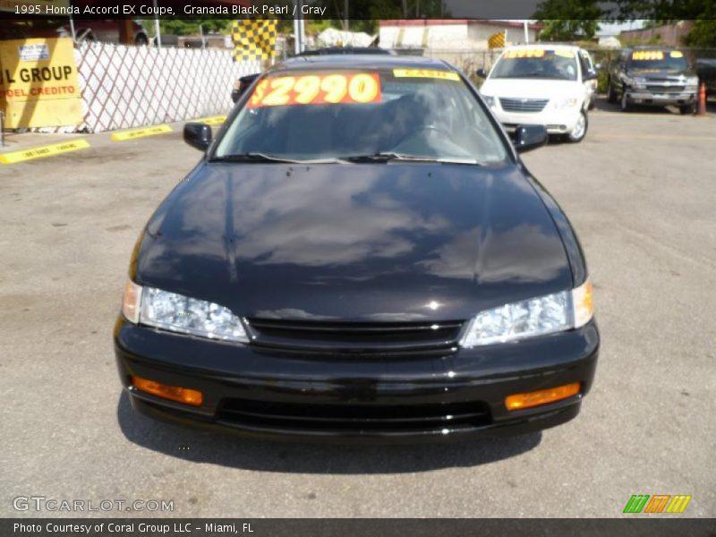 Granada Black Pearl / Gray 1995 Honda Accord EX Coupe