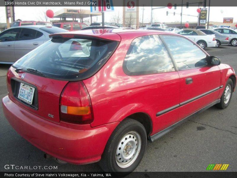 1996 honda civic dx hatchback in milano red photo no. Black Bedroom Furniture Sets. Home Design Ideas