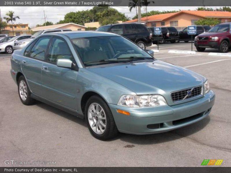 2003 Volvo S40 1 9t In Silver Green Metallic Photo No