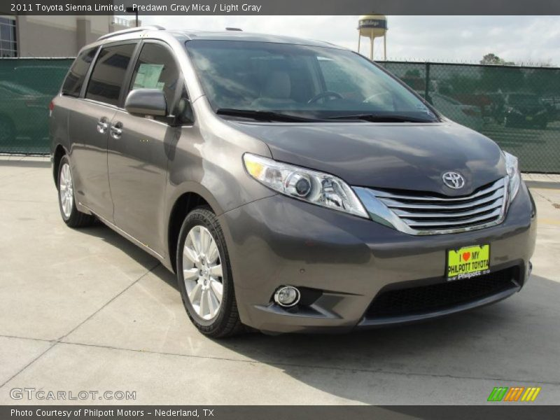 2011 Toyota Sienna Limited in Predawn Gray Mica Photo No. 47060414 ...