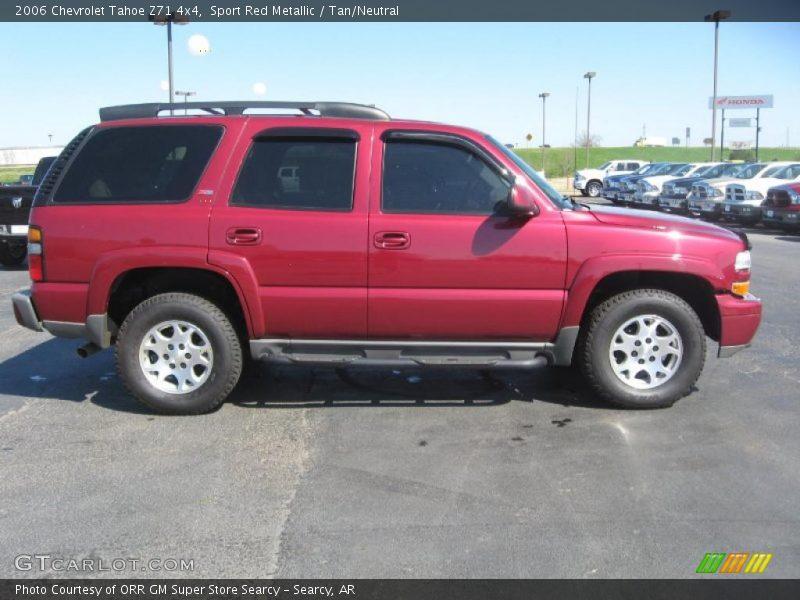 2006 Chevrolet Tahoe Z71 4x4 in Sport Red Metallic Photo No. 47121798 ...