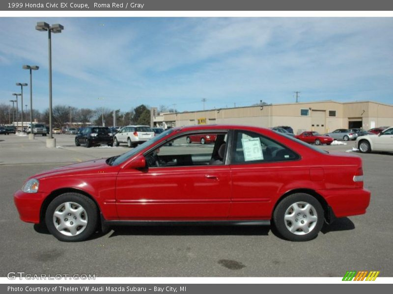 1999 civic ex coupe roma red photo no 47382740. Black Bedroom Furniture Sets. Home Design Ideas