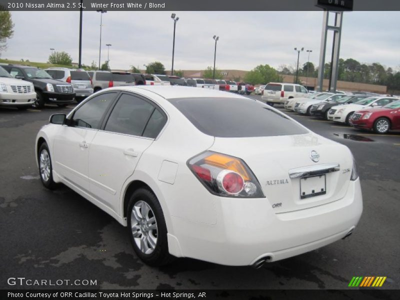 2010 nissan altima 2 5 sl in winter frost white photo no 47393528. Black Bedroom Furniture Sets. Home Design Ideas