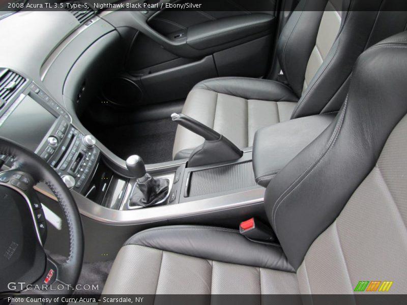 2008 tl 3 5 type s ebony silver interior photo no. Black Bedroom Furniture Sets. Home Design Ideas