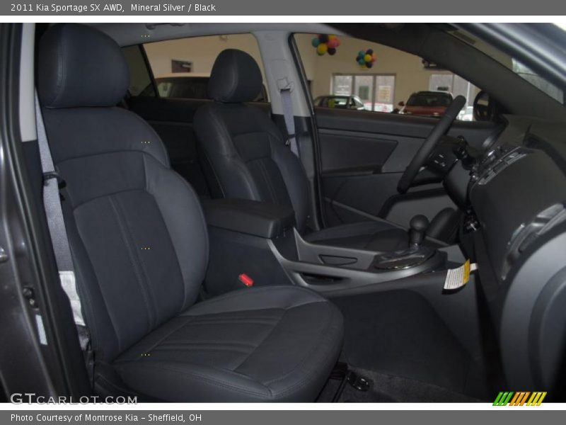 Mineral Silver / Black 2011 Kia Sportage SX AWD