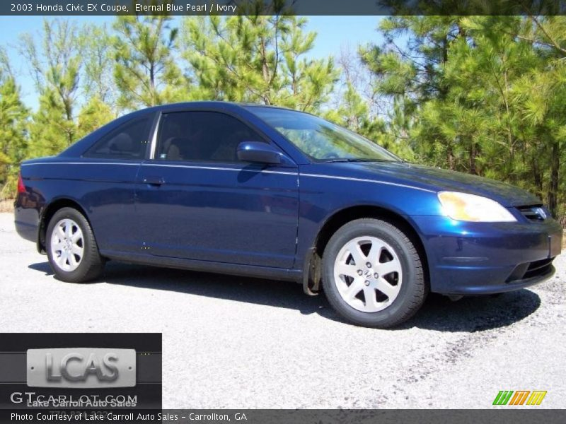 2003 Honda Civic EX Coupe in Eternal Blue Pearl Photo No. 47590591 ...