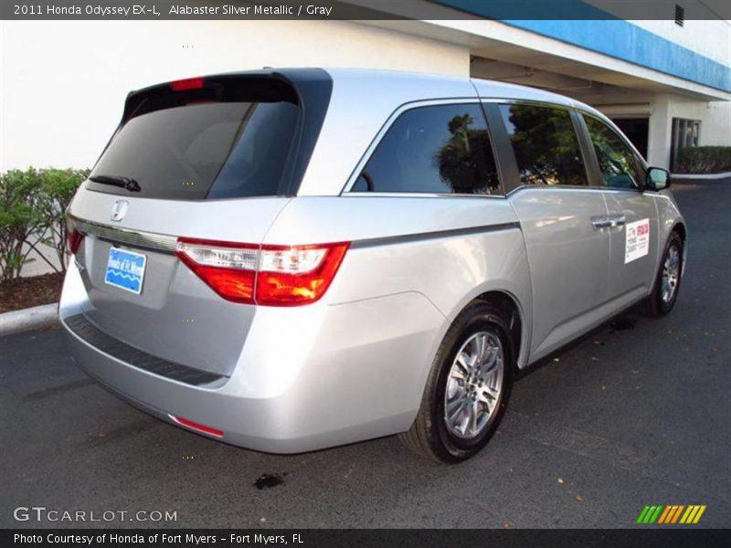 2011 Honda Odyssey EX-L in Alabaster Silver Metallic Photo No ...