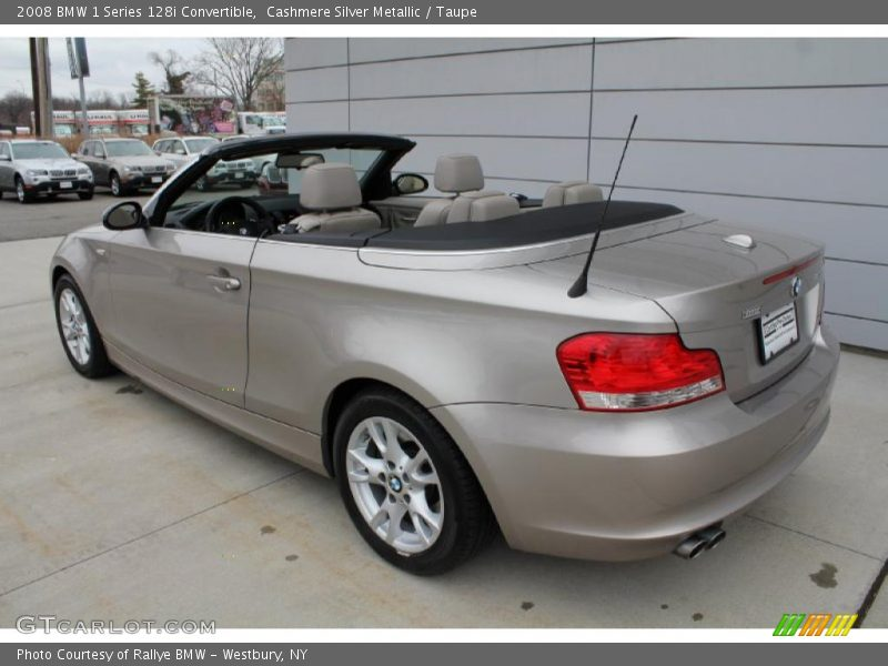 2008 bmw 1 series 128i convertible in cashmere silver metallic photo no 47752598. Black Bedroom Furniture Sets. Home Design Ideas
