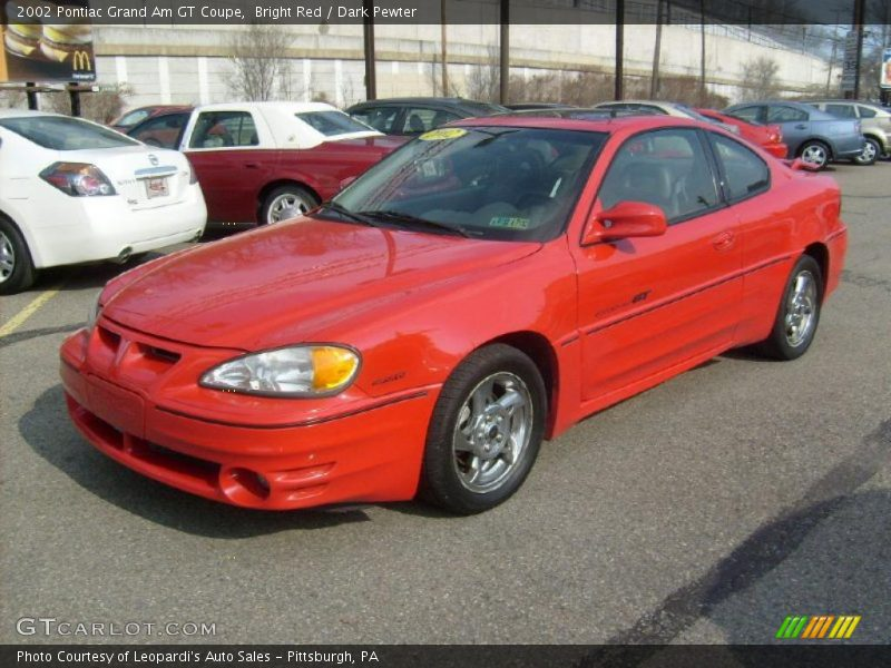 2002 pontiac grand am gt coupe in bright red photo no. Black Bedroom Furniture Sets. Home Design Ideas
