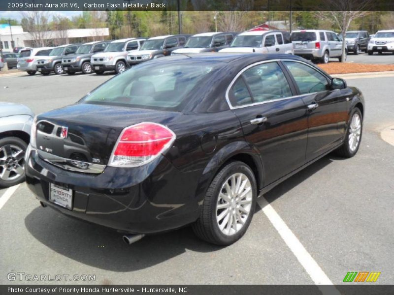 Carbon Flash Metallic / Black 2009 Saturn Aura XR V6