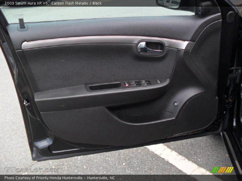 Carbon Flash Metallic / Black 2009 Saturn Aura XR V6