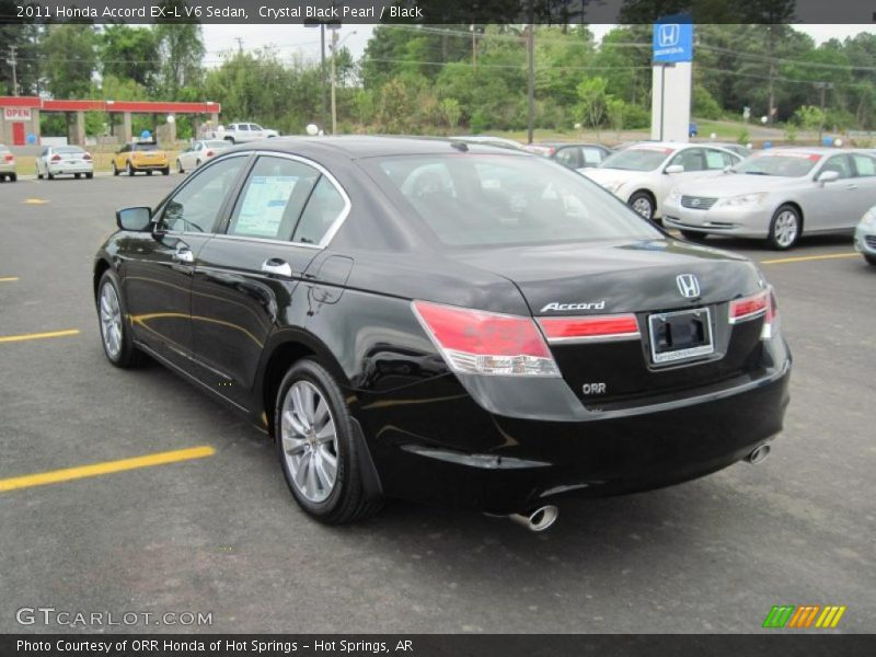 2011 honda accord ex l v6 sedan in crystal black pearl. Black Bedroom Furniture Sets. Home Design Ideas