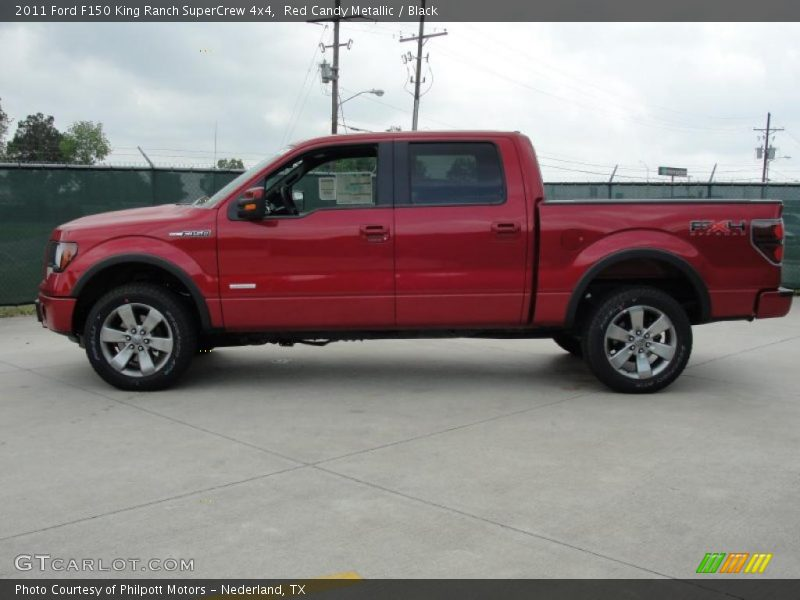 Red Candy Metallic / Black 2011 Ford F150 King Ranch SuperCrew 4x4
