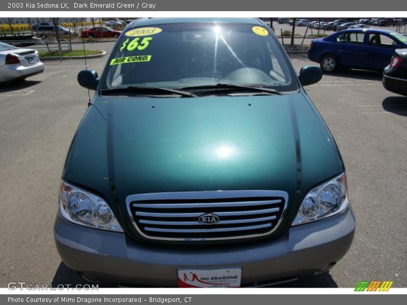 Dark Emerald Green / Gray 2003 Kia Sedona LX