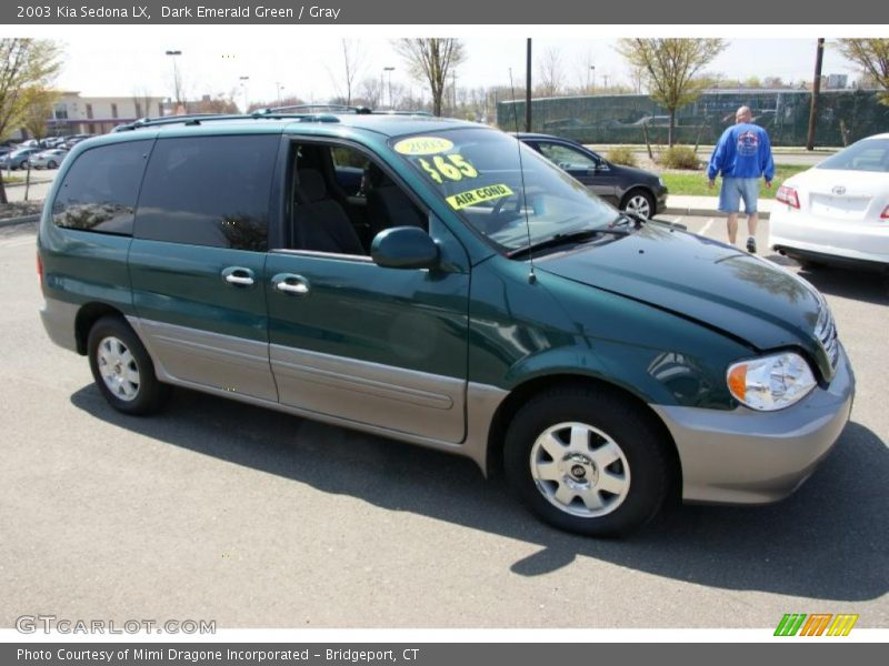 Dark Emerald Green / Gray 2003 Kia Sedona LX