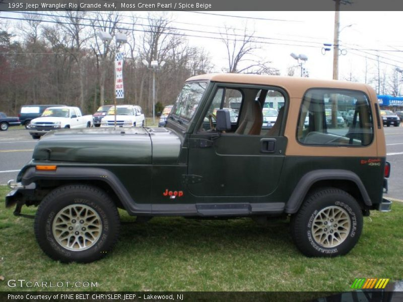 1995 jeep wrangler rio grande 4x4 in moss green pearl. Black Bedroom Furniture Sets. Home Design Ideas