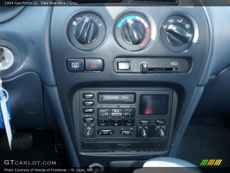 Controls of 1994 Prizm LSi