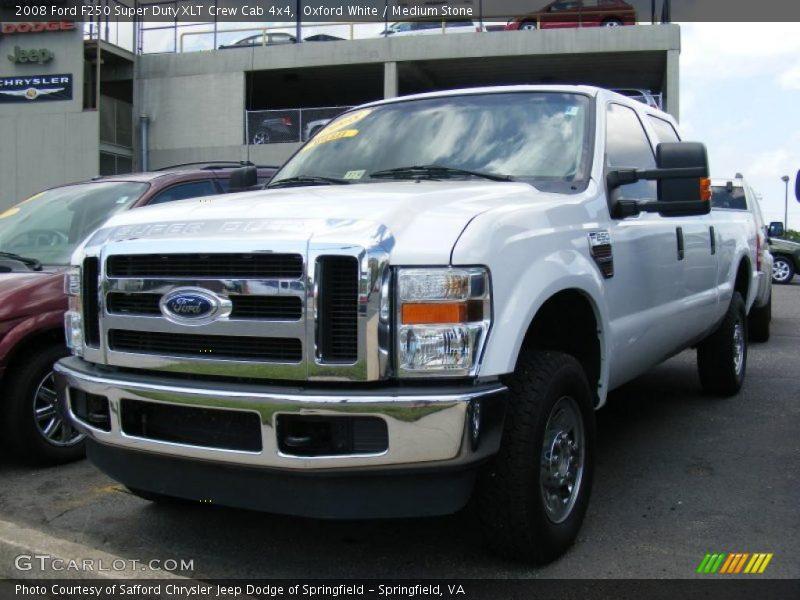 ... White / Medium Stone 2008 Ford F250 Super Duty XLT Crew Cab 4x4