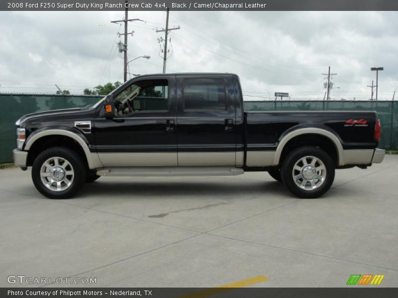 2008 ford f250 super duty king ranch crew cab 4x4 in black. Black Bedroom Furniture Sets. Home Design Ideas
