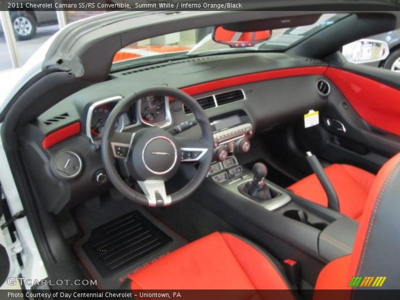 inferno orange black interior 2011 camaro ss rs. Black Bedroom Furniture Sets. Home Design Ideas