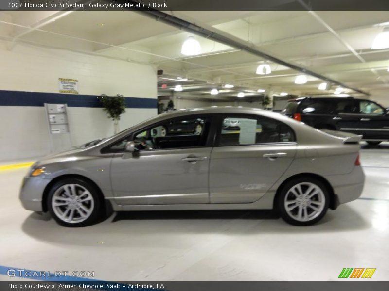 2007 Honda Civic Si Sedan in Galaxy Gray Metallic Photo No. 48899736 ...