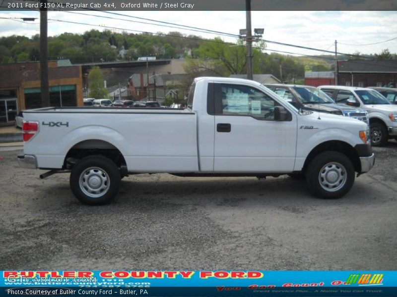 2011 ford f150 xl regular cab 4x4 in oxford white photo no 48953806. Black Bedroom Furniture Sets. Home Design Ideas