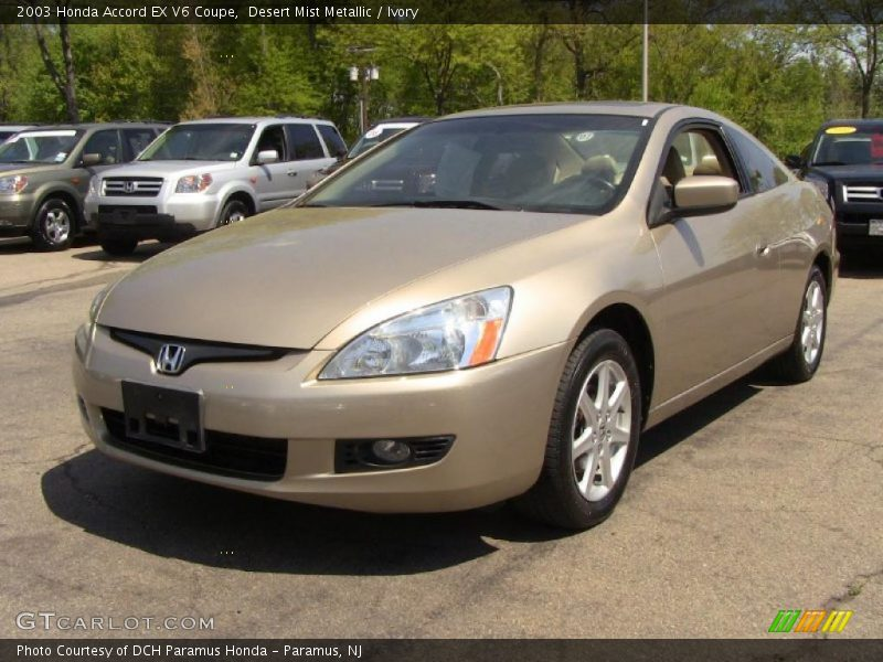 Desert Mist Metallic / Ivory 2003 Honda Accord EX V6 Coupe