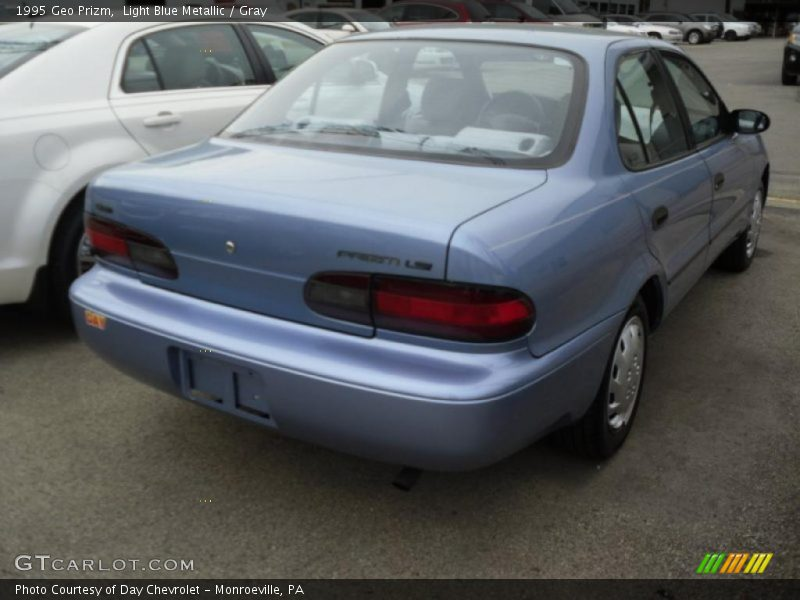 Light Blue Metallic / Gray 1995 Geo Prizm