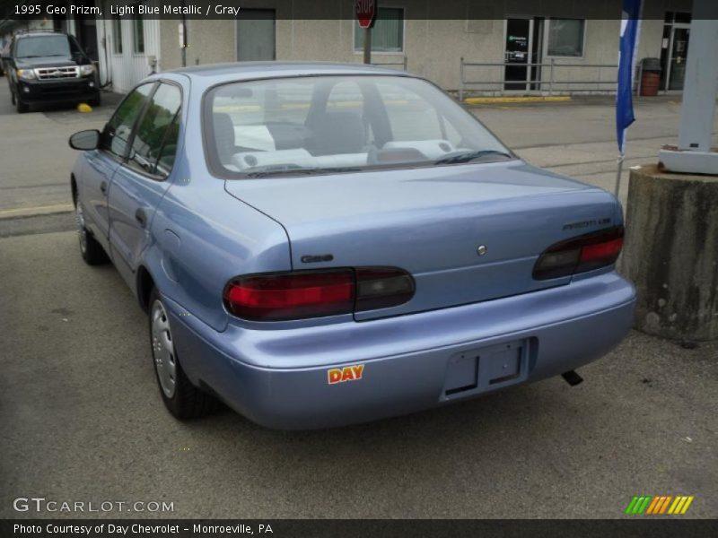 Light Blue Metallic / Gray 1995 Geo Prizm